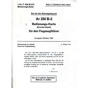 Ar 234 B-2 Bedienungs-Karte