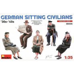German Sitting Civilians...