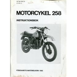 Motorcykel 258 instruktionsbok