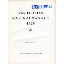 Vår Flottas Marinalmanack 1929