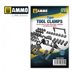 Tiger tool clamps, scale 1/35