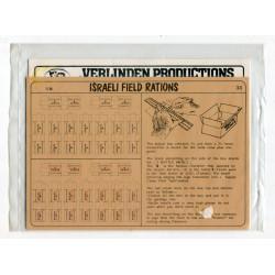 Israeli Field Rations