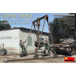 German Tankmen with Gantry...